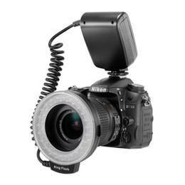 RF-550D RF 550D макрос 48 штук LED кольцо вспышка света для Canon Nikon Pentax Olympus Panasonic DSLR от Поставщики макрос кольцо привело свет