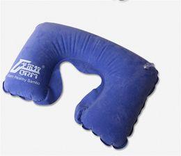 Wholesale Neck Rest Pillow - Wholesale- U type neck Inflatable pillow Portable Outdoor Travel Ultralight Flight Car Pillow Neck U Rest Air Cushion+ Eye Mask + Earbuds
