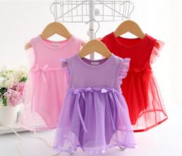 Yaz Pamuk Yay Için Yeni Doğan Bebek Elbise Moda Bebek Tulum kızlar Yaz Çocuklar Bebek Giysileri Bebek Kız Tulum LC453 cheap new born babies dresses nereden yeni doğmuş bebek kıyafetleri tedarikçiler