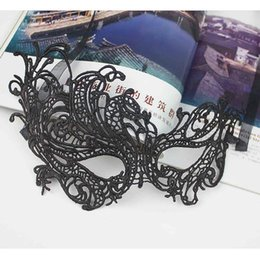 Wholesale Masquerade Charms - Wholesale-Charming Lady Eye Mask Sexy Lace Phoenix Masquerade Ball Christmas Halloween New Year Party Fancy Dress Costume Accessories