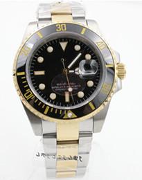 Wholesale Christmas Reviews - Two tone 116613BKSO Review watch men automatic ceramic bezel sapphire glass original buckle date watch mens dress wristwatches
