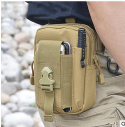 Wholesale Wholesale Men Waist Bag - Wallet Pouch Purse Phone Case Outdoor Tactical Holster Military Molle Hip Waist Belt Bag with Zipper for iPhone Samsung