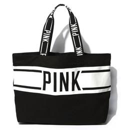 Wholesale Tote Bag Mochila - 2017 PINK Brand New Letter Pink Totes Women Rucksack Canvas Bag Bolsa Feminina Handbags Luxury Handbags Clutch Vintage Lady Mochila