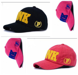 Wholesale Wholesale Men Women Hats - Pink Hats Baseball Caps VS Fashion Sport Women Men Summer Spring Cotton Caps Youth PINK Letters Breathable Adult Thick Autumn Hats
