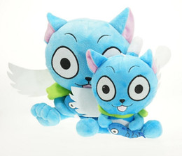 Wholesale Happy Plush Fairy Tails - Wholesale-Anime Cartoon Fairy Tail Happy and Fish Plush toy Plush Doll Figure Toy