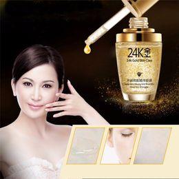 Wholesale Skin Whitening Essential Oils - New BIOAQUA 24K Gold Face Cream Whiten Moisturizing 24 K Gold Day Cream Hydrating 24K Gold Essence Serum For Women Face Skin Cares