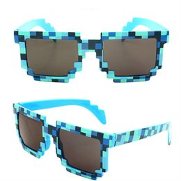 Wholesale Minecraft Kids - Minecraft Glasses 8 bit Pixel Women Men Sunglasses Female Male Mosaic Sun Glasses kids Boys Girls Vintage