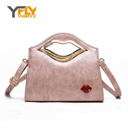 Wholesale Hot Sexy Girls Leather - Wholesale- Y-FLY Hot Sale 2016 News Sexy Slip Women Bag High Quality PU Leather Messenger Bag Girls Casual Handbags Tote Bag Ladies HC129