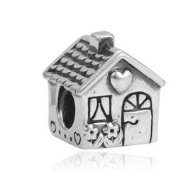 Argentina Se adapta a Pandora Pulseras 30 unids Sweet Toy House Silver Charm Bead Granos sueltos para venta al por mayor Diy Collar de plata esterlina europea de Navidad supplier house beads Suministro
