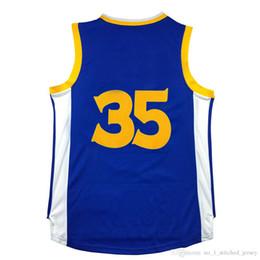 Wholesale Cheap Kd S - Mens KD Basketball jerseys 35 Sport Jersey Cheap Uniform Shirts 100% Embroidery Logos Wholesale Free Shipping