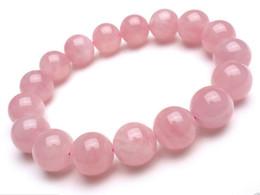 Wholesale Pink Jade Beads - 10mm Natural Madagascar Deep Pink Rose Quartz Crystal Round Beads Bracelet AAA