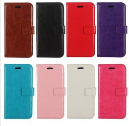 Wholesale Wholesale Cell Phone Wallets - 5PCS Wallet Credit Card Holder Stand PU Leather Shockproof Cell Mobile Phone Protective Cover Case For iPhone 7 Plus 6 6s 5s 5 Samsung S8