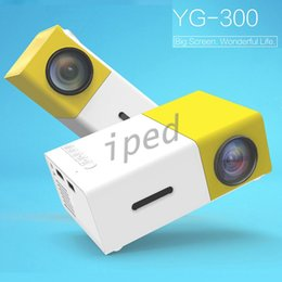 Wholesale Cheap Mini Projector Hdmi - Mini YG300 LCD 400 - 600 Lumens 320 x 240 Pixels Support 1080P With HDMI USB AV SD Input 3.5mm AUX Interface Multi-use Projector cheap 10pcs