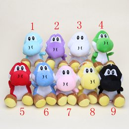 Wholesale Cute Mario Bros - Wholesale- Cute 17CM anime Super Mario Bros Yoshi Plush Stuffed toys Dolls Mario Plush Toys Free shipping