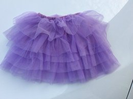 Wholesale Baby Ballerina Skirt - 2-10Y New Fashion Children Girl Tutu Skirts Baby Ballerina Skirt Kids Chiffon Fluffy Casual Candy 7 Color Skirt