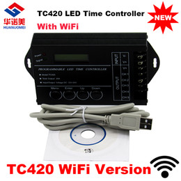 Wholesale Programmable Aquarium - Newest time dimmer TC421 WiFi time programmable led controller tc420 dimmer rgb aquarium lighting timer, DC12~24V input, 5 channels,max 5*4A