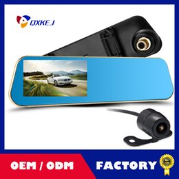 Wholesale Rearview Mirror Camera Sensors - Dual-lens Car DVR Dashcam, Night Version Full HD 1080P with 4.3 inch LCD Screen, Rearview Mirror Design Factory Direct Free Shipping