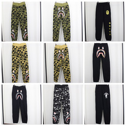 Wholesale Fleece Camo Pants - Teenager Camo Print Personality Hip Hop Shark Pants Men Loose Casual Pants Sportswear 16 Colors Jogger Hip Hop Running Sweatpant