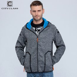 Wholesale Class Clothes Men - Wholesale-CITY CLASS 2016 Autumn&Winter Men's Hoodies of Brand Clothing Harajuku HipHop Sweatshirts for Male Outerwear Waterproof zip 2766