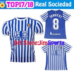 Wholesale Royal Jerseys - Best Quality Real Sociedad 2017 2018 Royal Society Home Away Soccer Jersey Free Ultra Fast Delivery Royal Society Jerseys