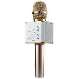 karaoke-lautsprecher Rabatt Q7 Handheld Mikrofon Bluetooth Wireless KTV Mit Lautsprecher Mic Microfono Handheld Lautsprecher Tragbarer Karaoke-Player Für iphone Smartphones