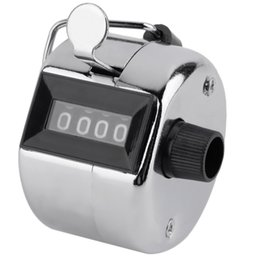 Wholesale Tally Wholesale - Wholesale-Hot sale !! Hand Held Tally Counter Manual Counting 4 Digit Number Golf Clicker NEW
