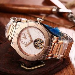 Wholesale Mechanical Time - Top New Listing Original Counter Luxury Mens Watches Imported Automatic Mechanical Movement Two Time Zone Luxury Brand Wristwatch