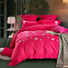 Wholesale Embroidery Hand Towel - High end Simple Solid color towel embroidery modern style adult Bedding sets 4Pcs,King Queen size.
