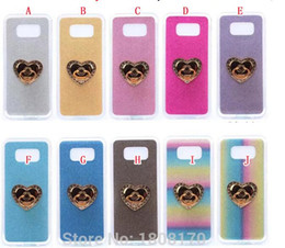 Wholesale Iphone 4s Case Silicone Glitter - Diamond Grip Stand Finger Bling Glitter Soft TPU Case For Iphone X 8 7 Plus 7Plus SE 5 5S 6 6S 4 4S Sparkle Colorful Cell Phone Skin Cover