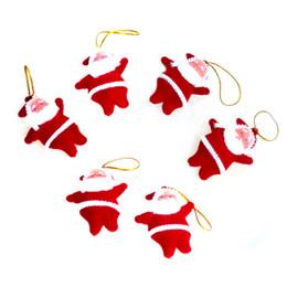 Плюшевая рождественская елка санта онлайн-Маленькая красная кукла Санта кулон елочная игрушка плюшевая игрушка маленькая подвеска