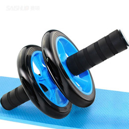 almofadas de gel de substituição Desconto 2017 Novo Equipamento Exercício Ab Rolo Roda Abdominal Rodas Duplas Roller Equipamentos De Ginástica (Cor: Preto)