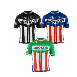 Wholesale Bicycle Wear Men - 2018 Men cycling jersey white black green short sleeve brooklyn cycling clothing summer bicycle clothes mtb road bike wear Customized