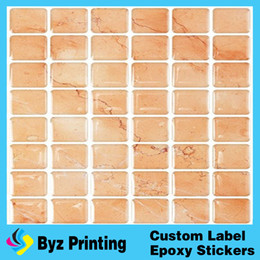 Wholesale Epoxy Resin Stickers - High quality OEM fatory good price waterproof bathroom wall sticker with epoxy resin for home decor
