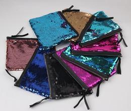 Wholesale Glitter Coin Purses Wholesale - Hot Sale Sequin Clutch Bag Mermaid Sequin Purse Mermaid Makeup Bags Cosmetic Bag Glitter Sequins Coin Bags Fashion Pouch
