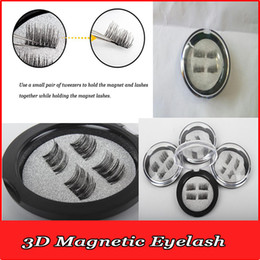 Wholesale Eyelash Rubber - 2017 new magnet fake eyelash paste quick and paste free of trace DIY creative free rubber anti-allergy magnetic lashes can be repeated