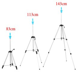 Wholesale Wig Stand Clamp - tripod hair Aluminum Adjustable Tripod Stand Clamp Three Layers Training Holder Pro Salon Hair Practice Styling Accessories