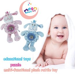 Wholesale Crib Activity - Wholesale- 2017 New Arrival Dog Stroller Rattle Baby Stuffed Toys Brinquedos Plush Toys Learning & Education Rattle Crib Activity Toys