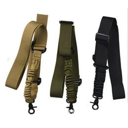 Wholesale Green Airsoft Guns - Multi-function Nylon Adjustable Tactical single point Bungee Rifle Gun Airsoft Sling hunting gun Strap Army Green Black wholesale