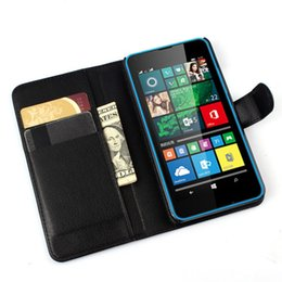 Wholesale Dual Sim Card Case - Luxury Flip Wallet Leather Case Cover For Microsoft Lumia 640 Lte Dual Sim Cell Phone Case For Nokia 640 N640 Back Cover