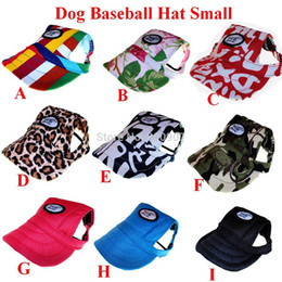 Wholesale Canvas Hiking Hats - Dog Baseball Hat Summer Canvas Cap Only For Small Pet Dog Outdoor Accessories Outdoor Hiking Sports PET354