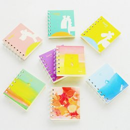 Wholesale Paper Products Stationery - Wholesale- Contracted wind is portable notebook Cute Coil Book Diary Notepad Escolar Papelaria korean stationery stationery products