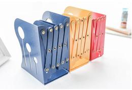 Wholesale Iron Books - Telescopic Bookshelf Folding Book Clip Student Coulors Creative Retro WROUGHT IRON Shelf Size:16.7*14.8*12.5 cm