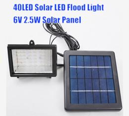 Wholesale Sells Solar Panel - Wholesale- hot selling 40LED Solar Lamps Flood Light 6V 2.5W Solar Panel, Light Control Auto On Off Solar Lamp Garden