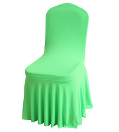 Wholesale Lycra Ruffled Chair Covers - 50pcs Ruffled Lycra Spandex Chair Cover Hot Sale Bottom Ruffled Lycra Spandex Chair Cover for Wedding
