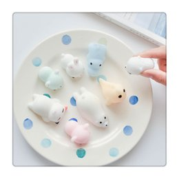 Wholesale Phone Light Charm - 2017 New Squishies Slow Rising Mochi Squishy Cat Squeeze Healing Fun Kids Kawaii Squishy Light Adult Toy Stress Reliever Decor Phone Case
