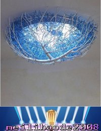 Wholesale Blue Nest - Creative Modern Simple Personality Blue Bird's Nest Ceiling Lamp Light Children room Ceiling Lights Dining Room Ceiling Lights Dia 50cm MYY