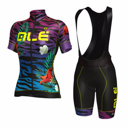 Wholesale Bike Women Cycling Set Shorts - ALE Blue Purple Cycling Jerseys Set 2017 Summer Style For Women Quick Dry Cool Max Bike Wear Size XS-3XL High Quality Bicycle Clothing