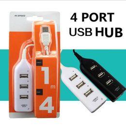 Canada 4 Port Haute Vitesse USB 2.0 mini HUB Pour Ordinateur Portable PC Ordinateur 1 m câble 4 ports usb hubs multi port adaptateur pour macbook iphone 7 Offre