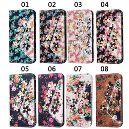 Wholesale Google Phone G4 - Diamonds Flower Flip Stand Leather Wallet Phone Cases Cover Photo Frame For Google Pixel XL 5.5 LG G3 G4 G5 K7 K8 V10 G4 Stylus2 LS770 LS775