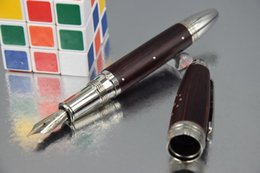 Wholesale Fountain Free - Free Shipping MB Pen Red   black Wool limited edition Silver clip Fountain pen No Original Box